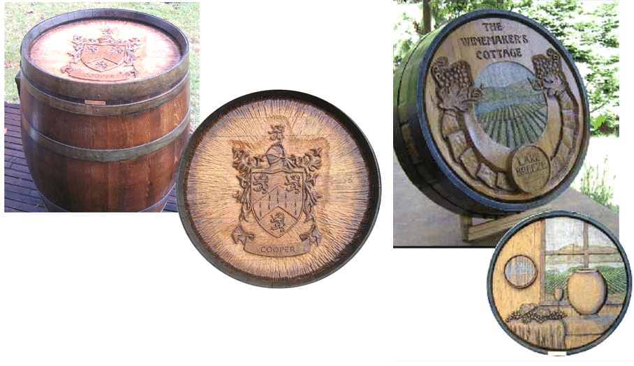 WINE BARREL CARVING WCS