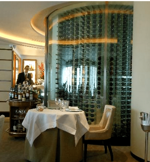 Glass-Enclosed Commercial Wine Cellar