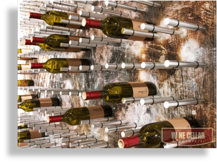 Peg wine rack system