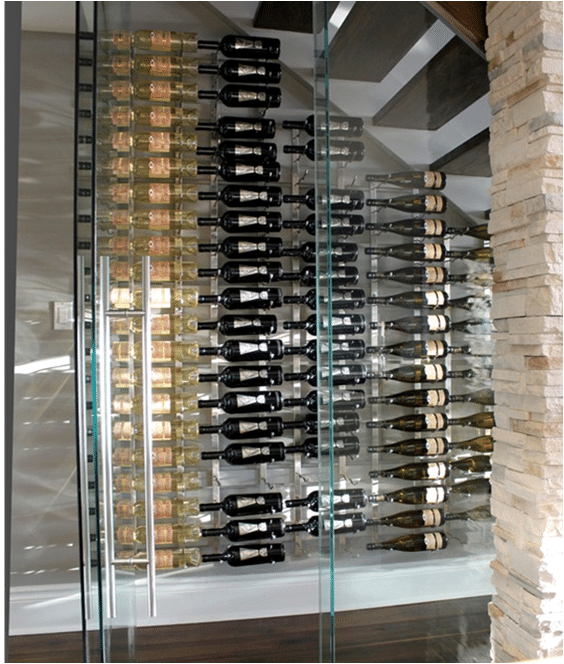 glass enclosed wine cellar