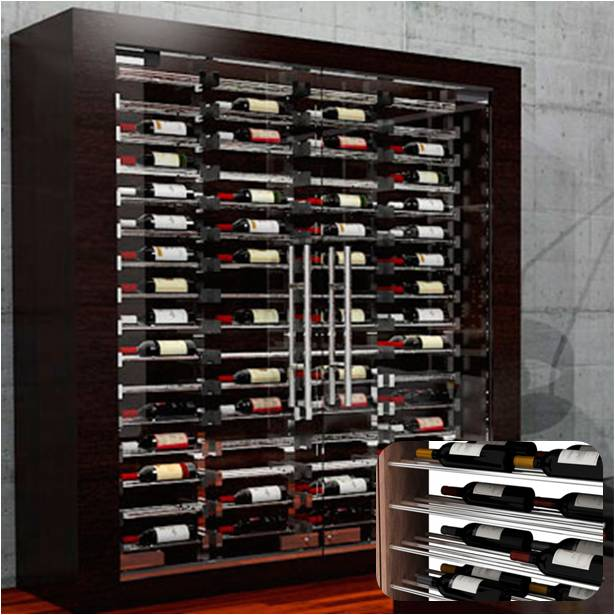 label ladder wine racks