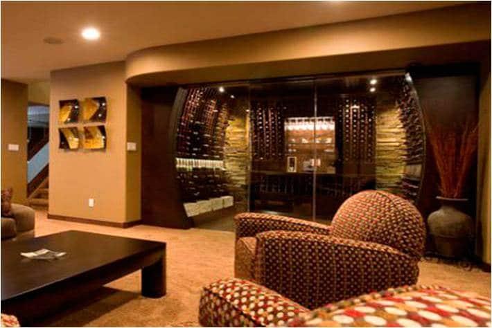 modern wine room