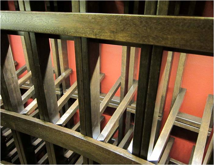Burke mahogany wine racks