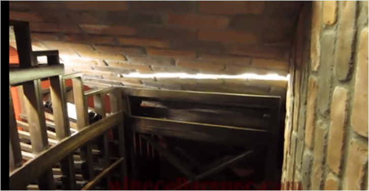 Burke wine cellar backend wall