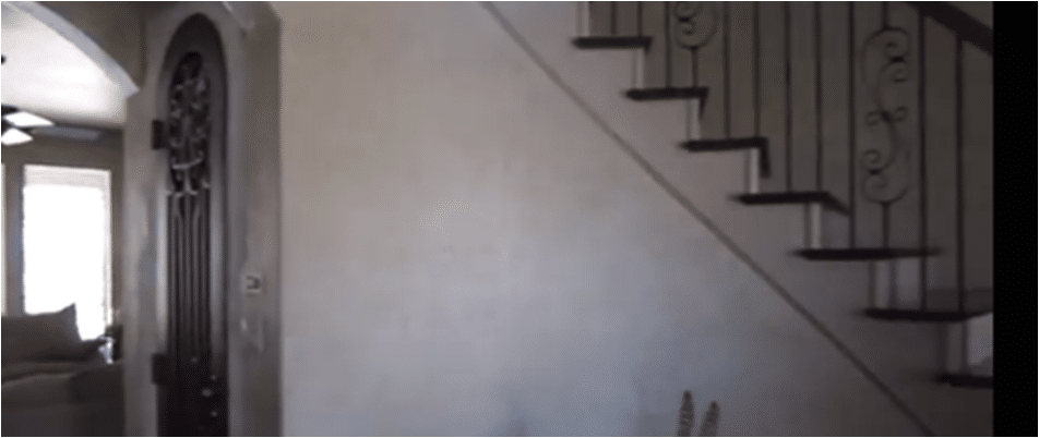 Burke wine cellar under the stairs