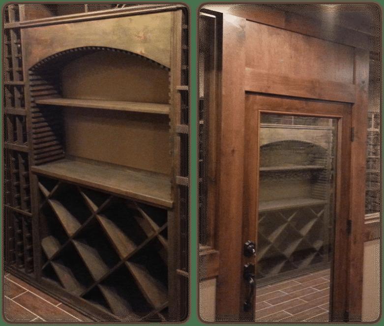 Philips knotty alder racking and door