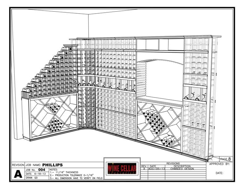 Philips wine cellar drawing