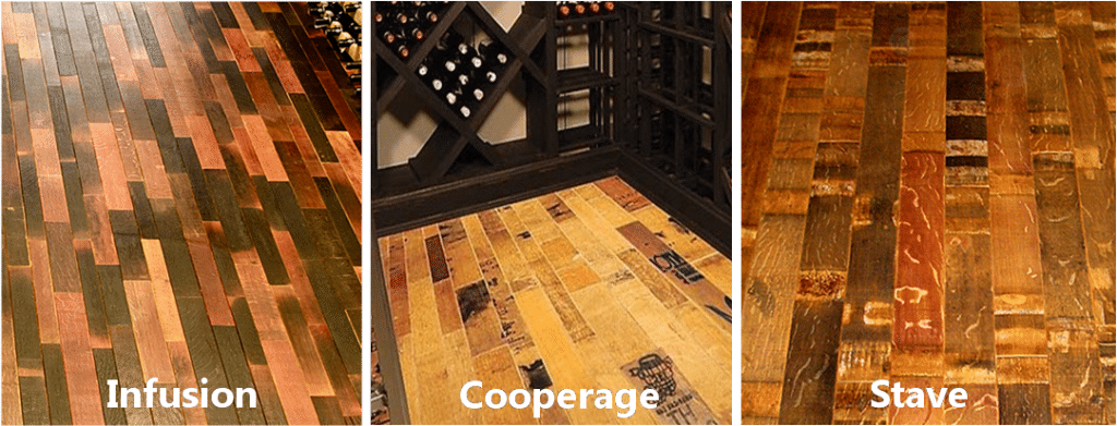 wine barrel flooring styles