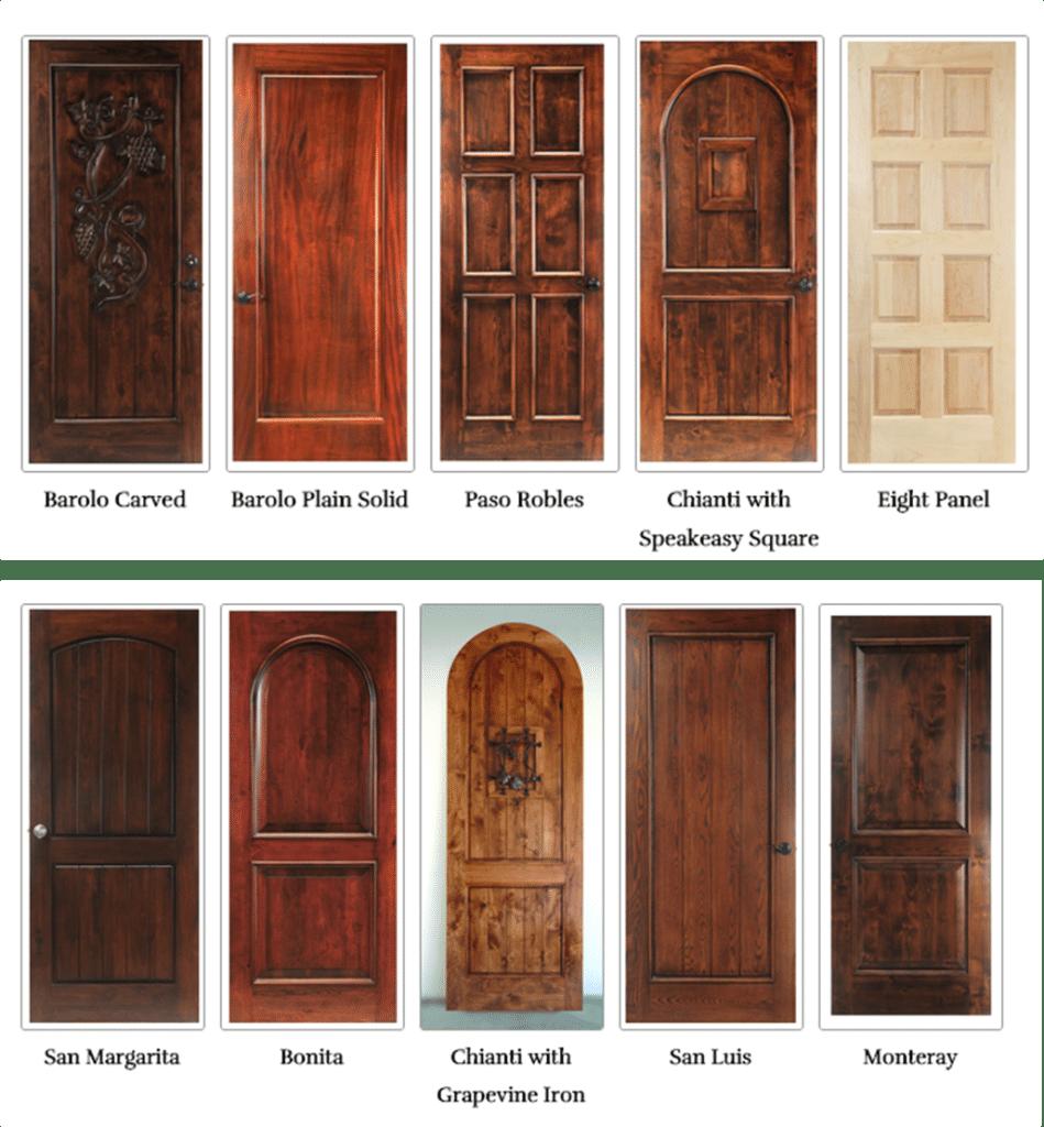 wooden wine cellar doors San Antonio