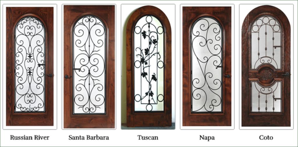 wrought iron wine cellar doors San Antonio