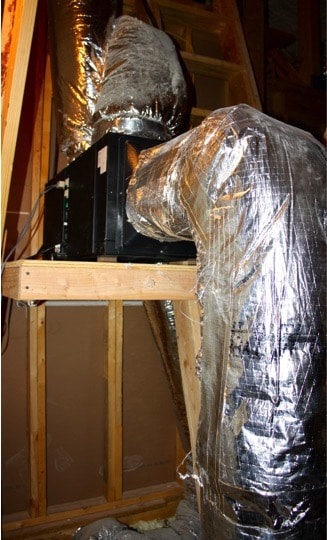 Ducting with Wine Guardian Refrigeration System in Colleyville, Texas Project