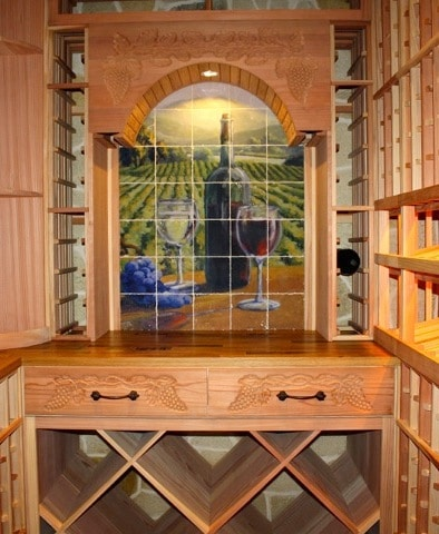 home wine room by Wine Cellar Specialists in Texas