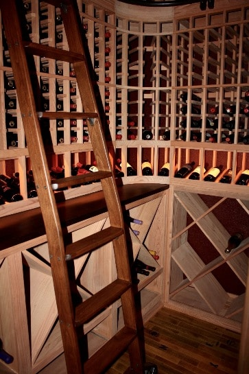 bent ladder wine cellar design Flower Mound Texas