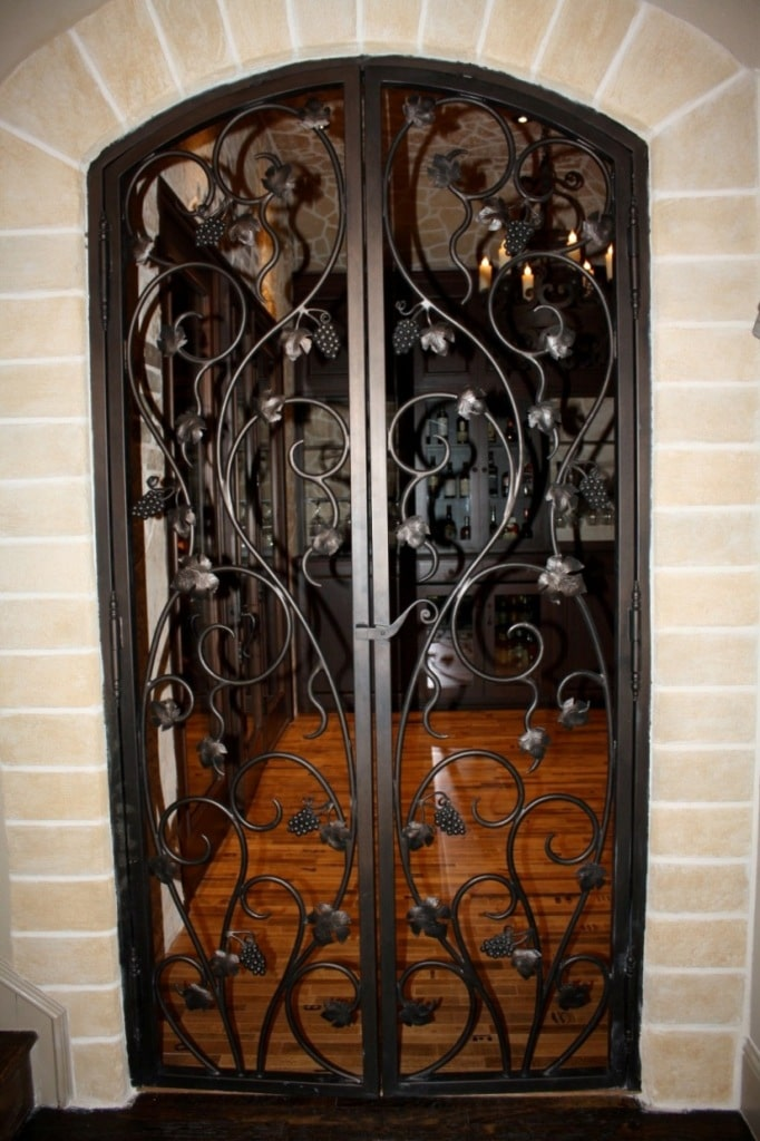 ornate wrought iron gate to the wine tasting room Flower Mound Texas