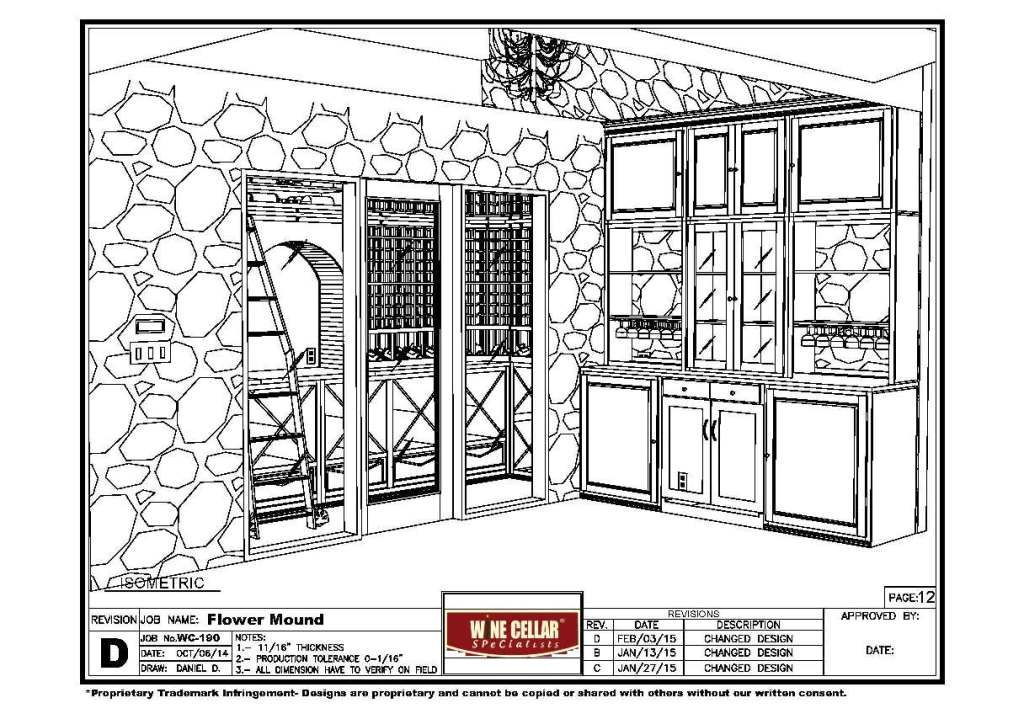the home bar area in the wine tasting room Flower Mound wine cellar