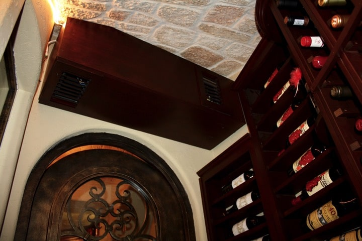 Ductless Split Cooling Unit for Texas Wine Cellar Installation Project