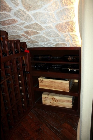 Stonecoat Ceiling Texas Home Wine Cellar Installation