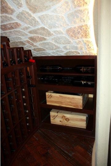 Stonecoat Ceiling Texas Home Wine Cellar Installation