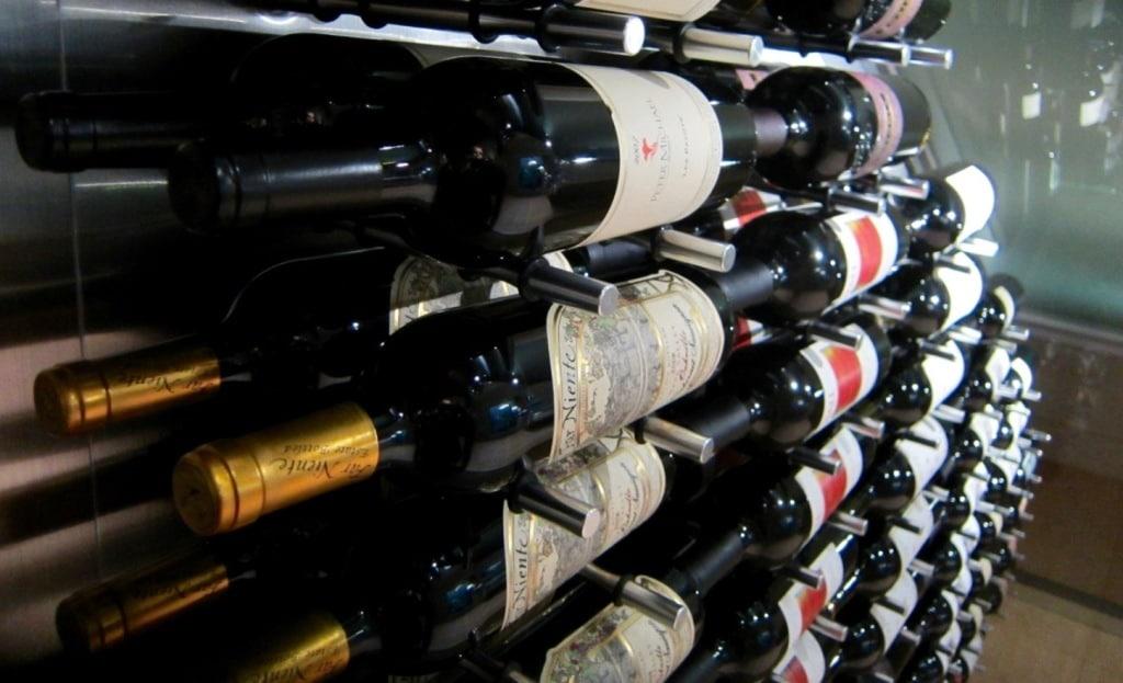 Modern Wine Display Ultra Peg Bottle Storage Dallas Wine Cellar Builders