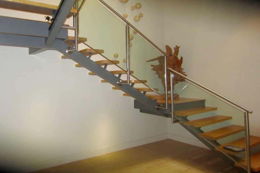 Open Stairway Before Dallas Texas Wine Cellar Construction