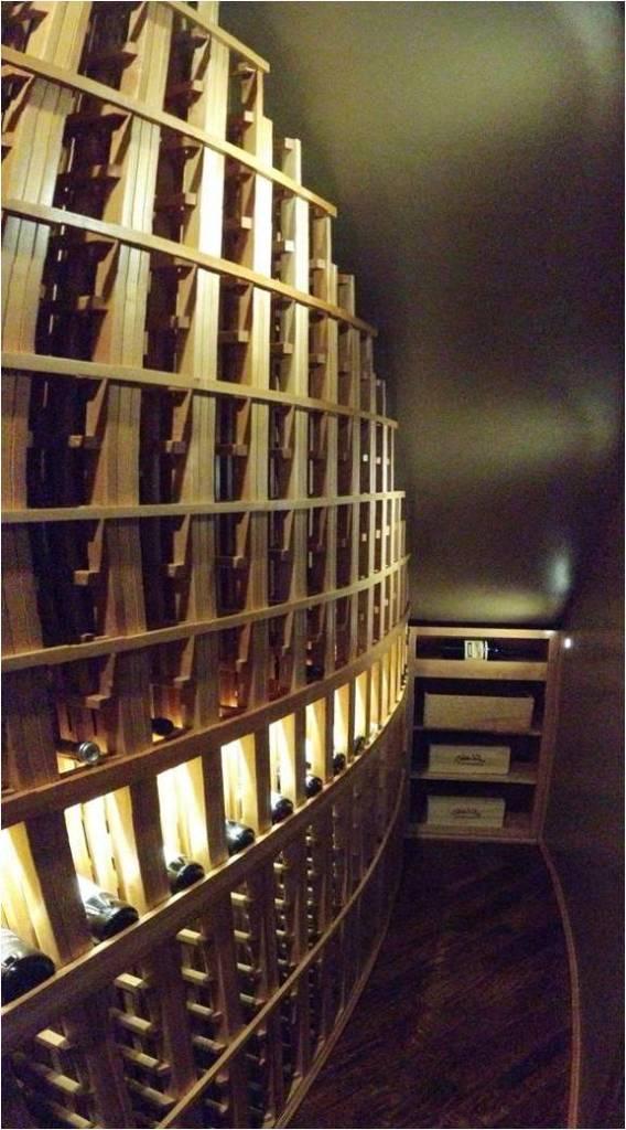 Panorama of the Back Wall San Antonio Wine Cellar