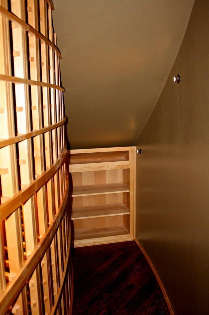 Custom Wine Cellar Under the Stairs San Antonio Home Installation Project