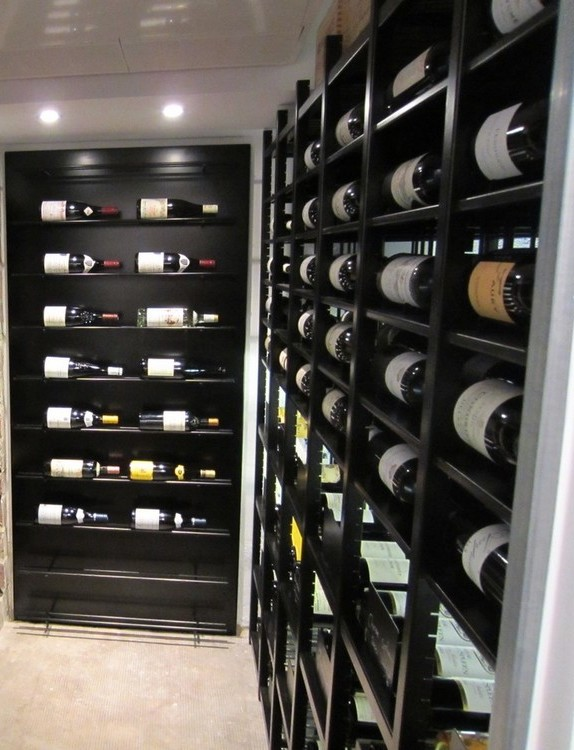 magnum bottles in modular Classic metal wine racks