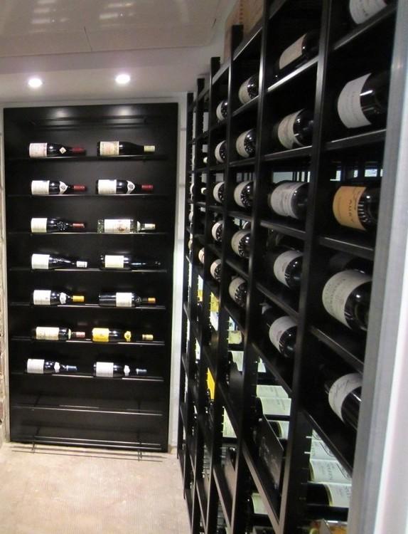 magnum bottles in modular Classic metal wine racks