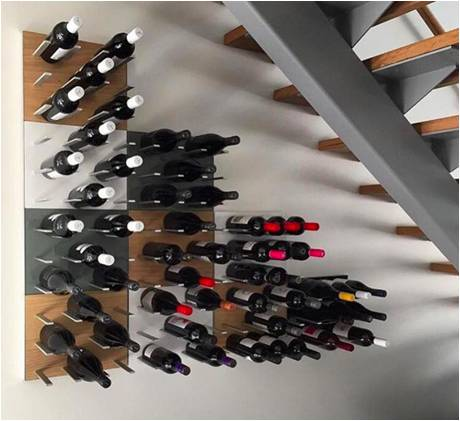 Custom Wine Display Stact Metal Racking