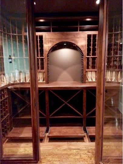 Custom Wine Cellar Built in a Home in San Antonio, Texas