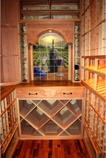 Wine Closet Custom Racking Design Texas