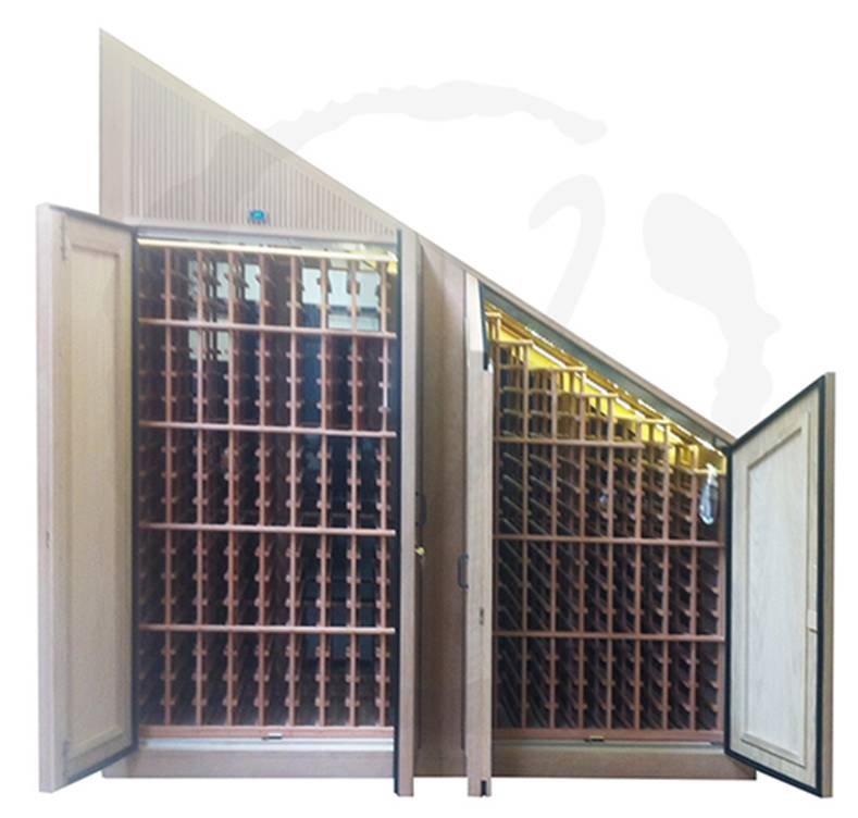 Double Door Custom Wine Cabinet with Front Exhaust