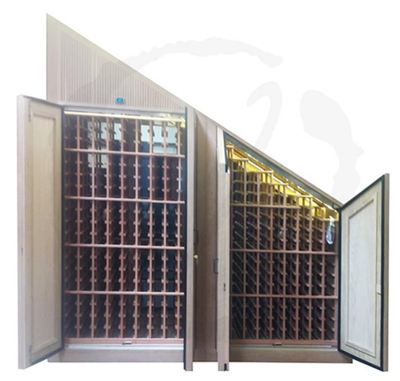 Double Door Custom Wine Cabinet with Front Exhaust