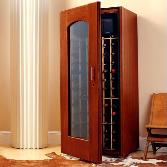 Contemporary Le Cache Model 1400 Wine Cabinet Classic Cherry