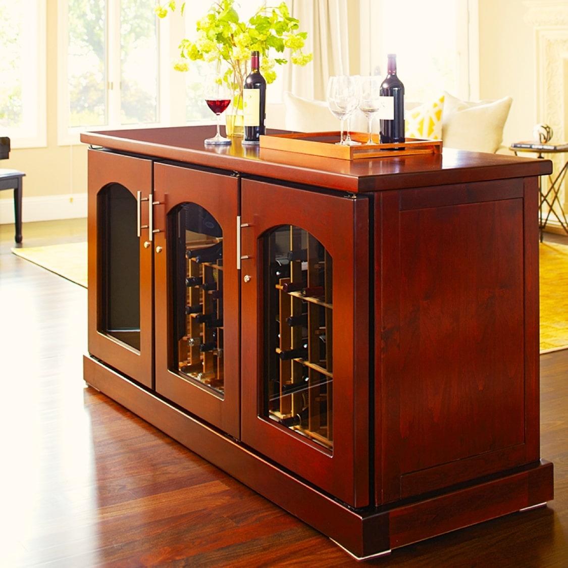 Le Cache Credenza Wine Cabinet Custom Wine Cellars San Antonio