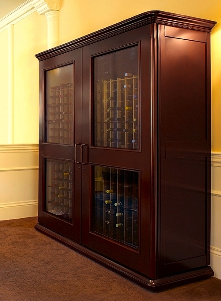 Elegant Wine Cabinet by Custom Wine Cellars San Antonio