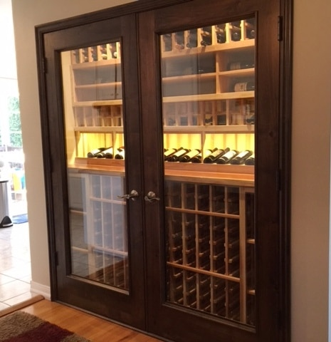 San Antonio Home Wine Cellar Installed with a CellarPro Cooling System