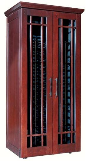 Le Cache Mission Wine Cabinet with Hardwood Doors