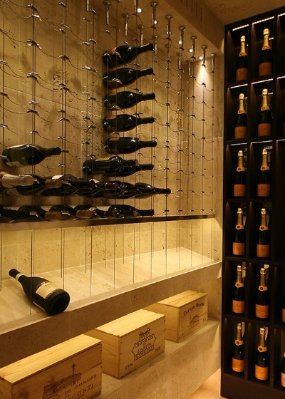 Cable Wine Rack System by San Antonio Builders