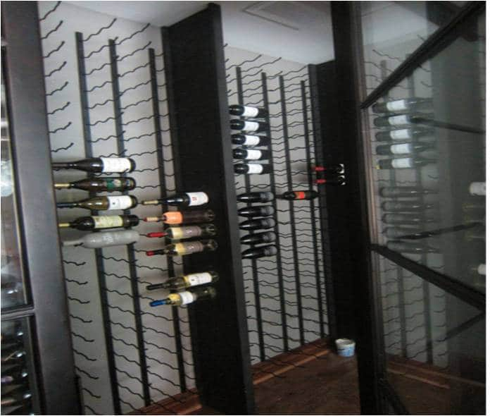 San Antonio Wine Cellar with Metal Wine Racks