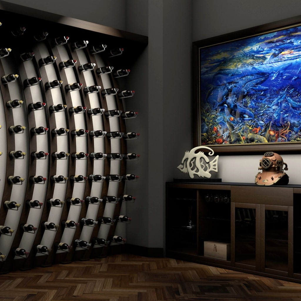 Ultra Wine Saddle Metal Racking System by San Antonio Builders