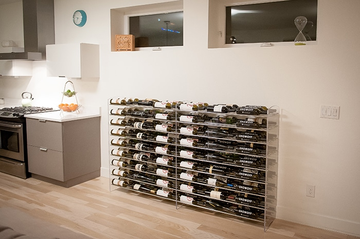 VintageView Evolution Series Wine Racks with Extension for Modern San Antonio Wine Cellars