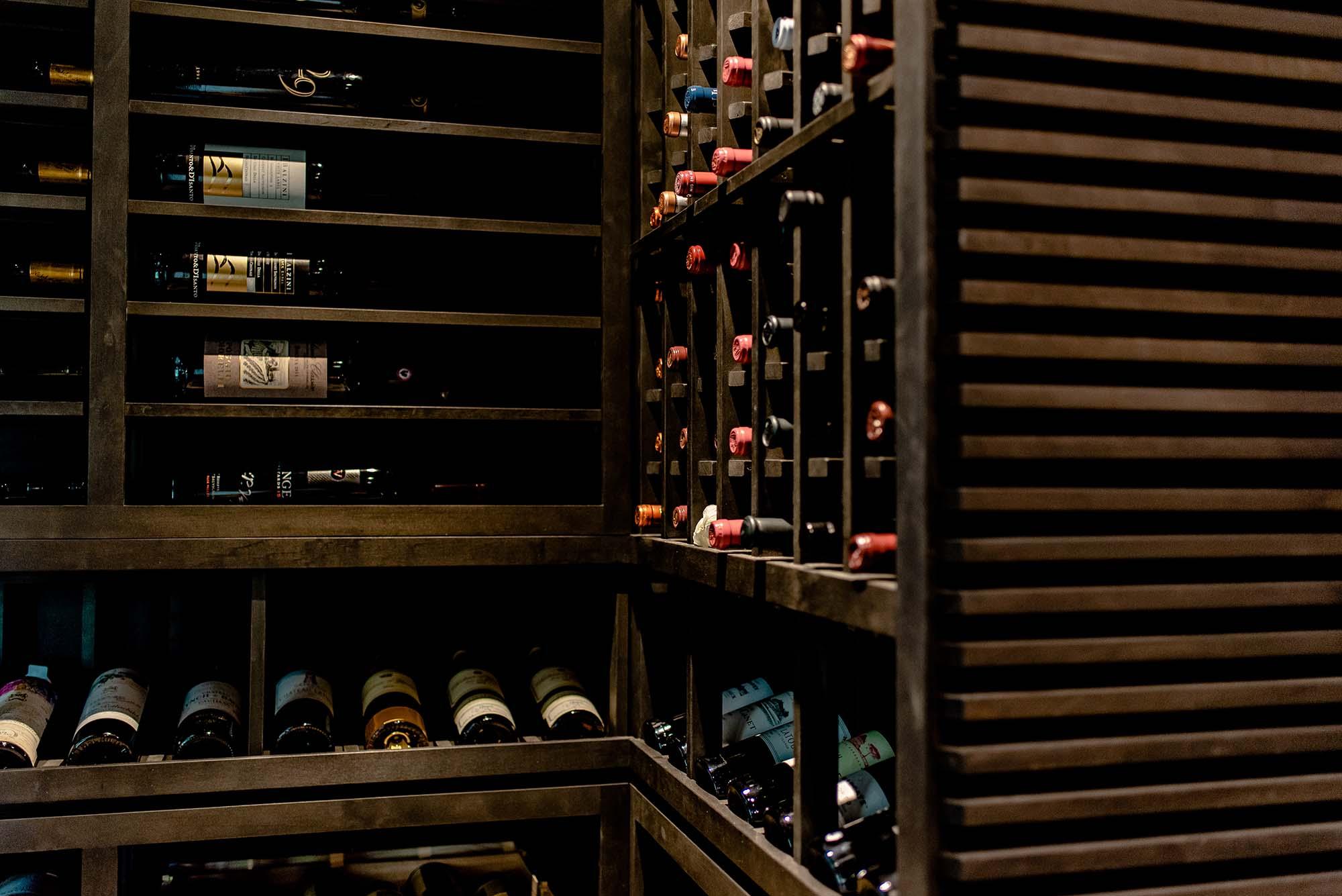 Black Modern Wine Cellar Racks Texas with Stylish Wine Racks