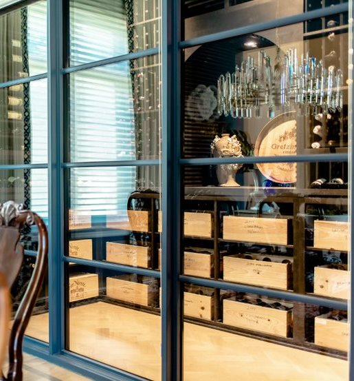 Elegant Modern Residential Wine Cellar Design for a Texas Home