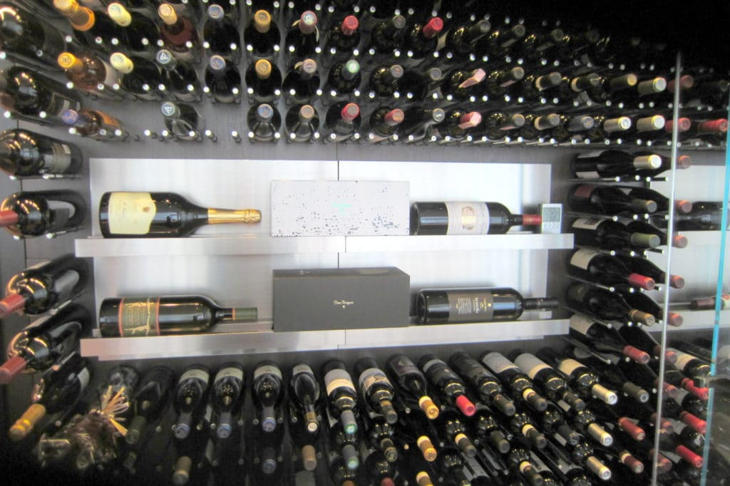 See more photos of this modern wine cellar here!